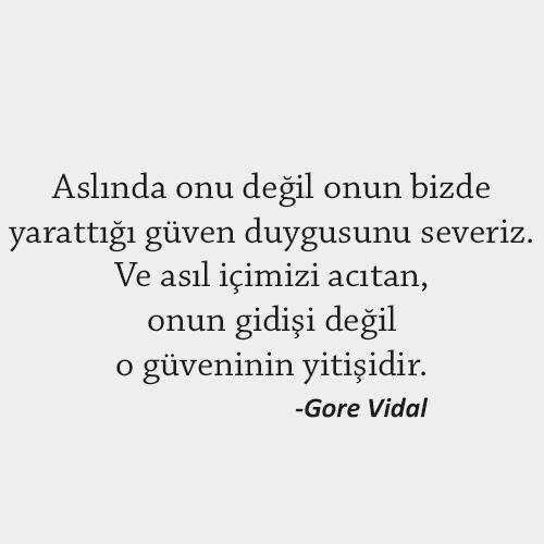 Gore Vidal Güven Sözleri