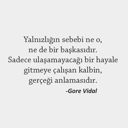 Gore Vidal Yalnızlık Sözleri