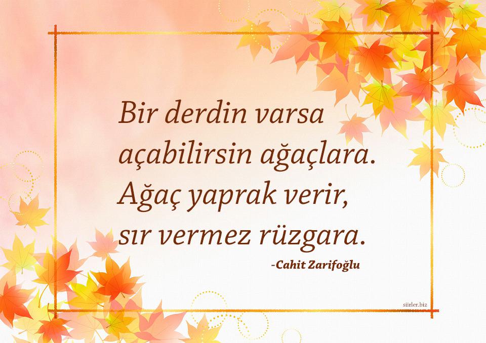 Cahit Zarifoğlu -Bir derdin varsa