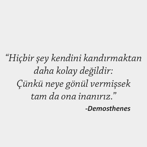 Demosthenes sözleri