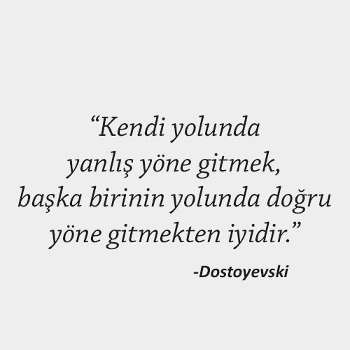 Dostoyevski Anlamlı sözler