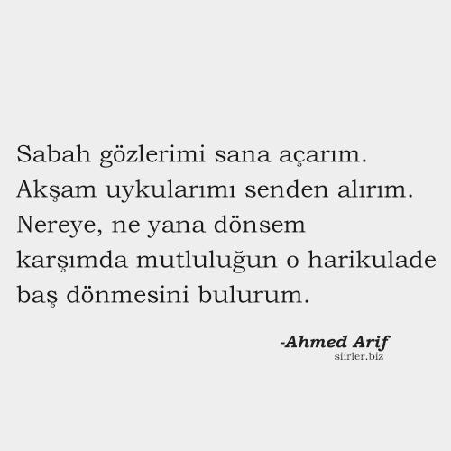 Ahmed Arif - güzel söz