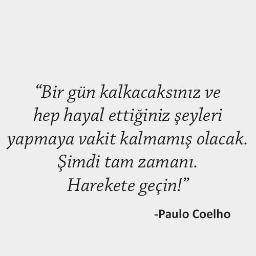 Paulo Coelho harekete geçin