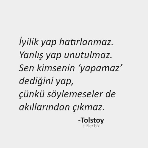 Tolstoy Hayata Dair Sözleri