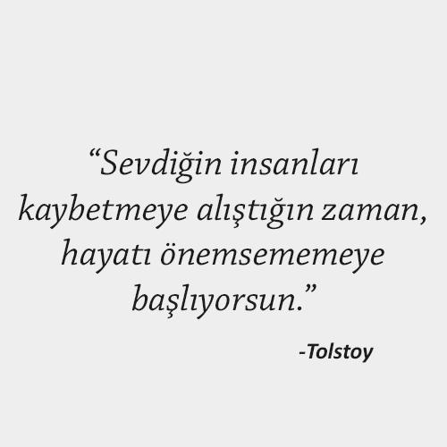 Tolstoy anlamlı sözleri