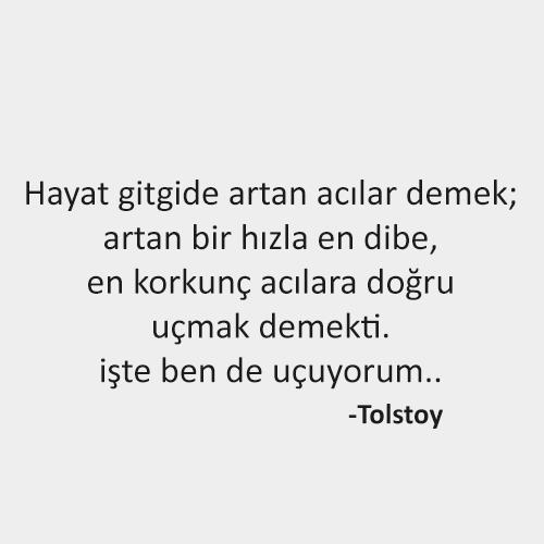 Tolstoy hayat Sözleri