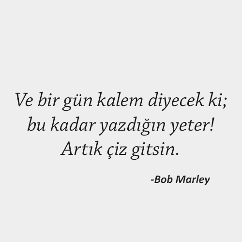Bob Marley Kapak Sözleri