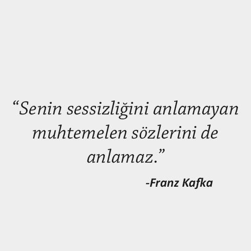 Franz Kafka Güzel Sözler