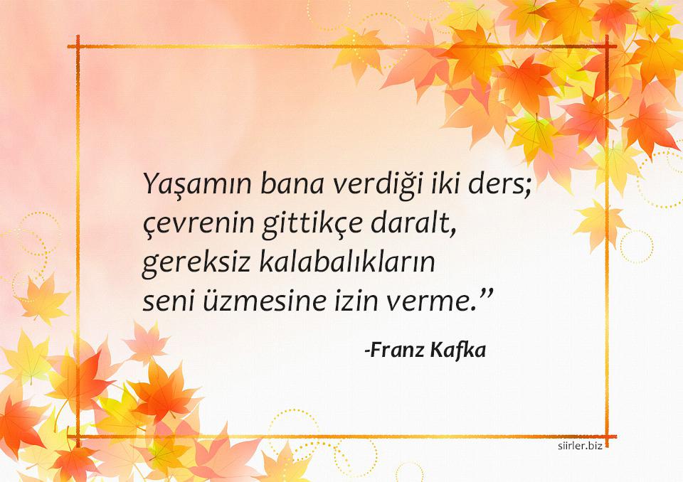 Franz Kafka Hayata Dair Sözleri