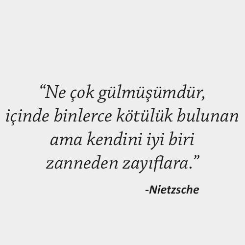 Nietzsche Anlamlı Sözler
