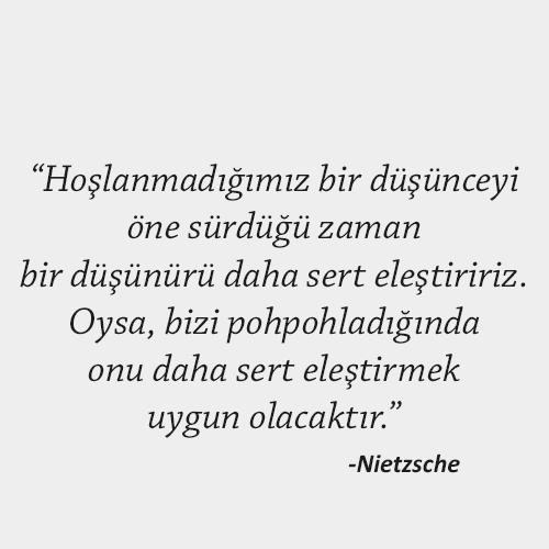Nietzsche hayata dair sözü