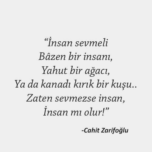 Cahit Zarifoğlu- İnsan Sevmelii